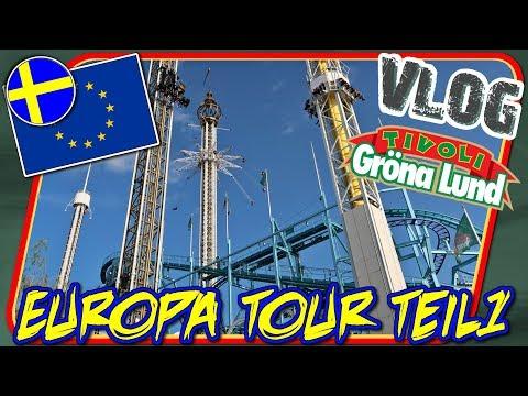 Der Norden ruft - Europa Tour Teil 1 // Tivoli Gröna Lund Stockholm [VLOG #43]
