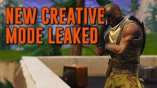 Nouveau mode créatif Fortnite LEAKED accidentellement!