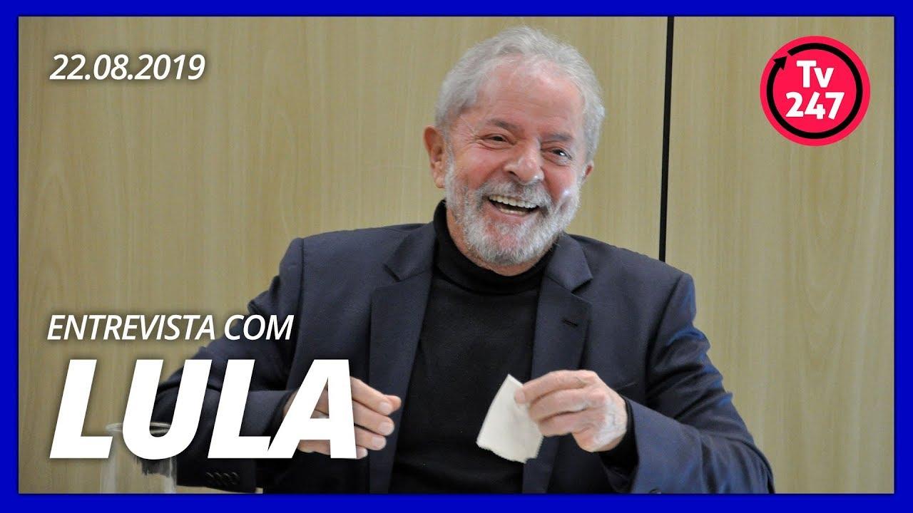 Resultado de imagem para Entrevista de Lula à TV 247