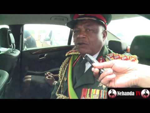 General Chiwenga speaks on Mugabe succession inside his car