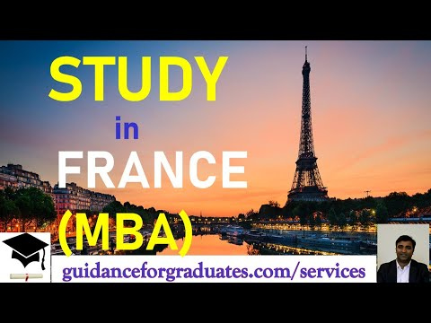 Study In France (MBA) Business & Management Programs
