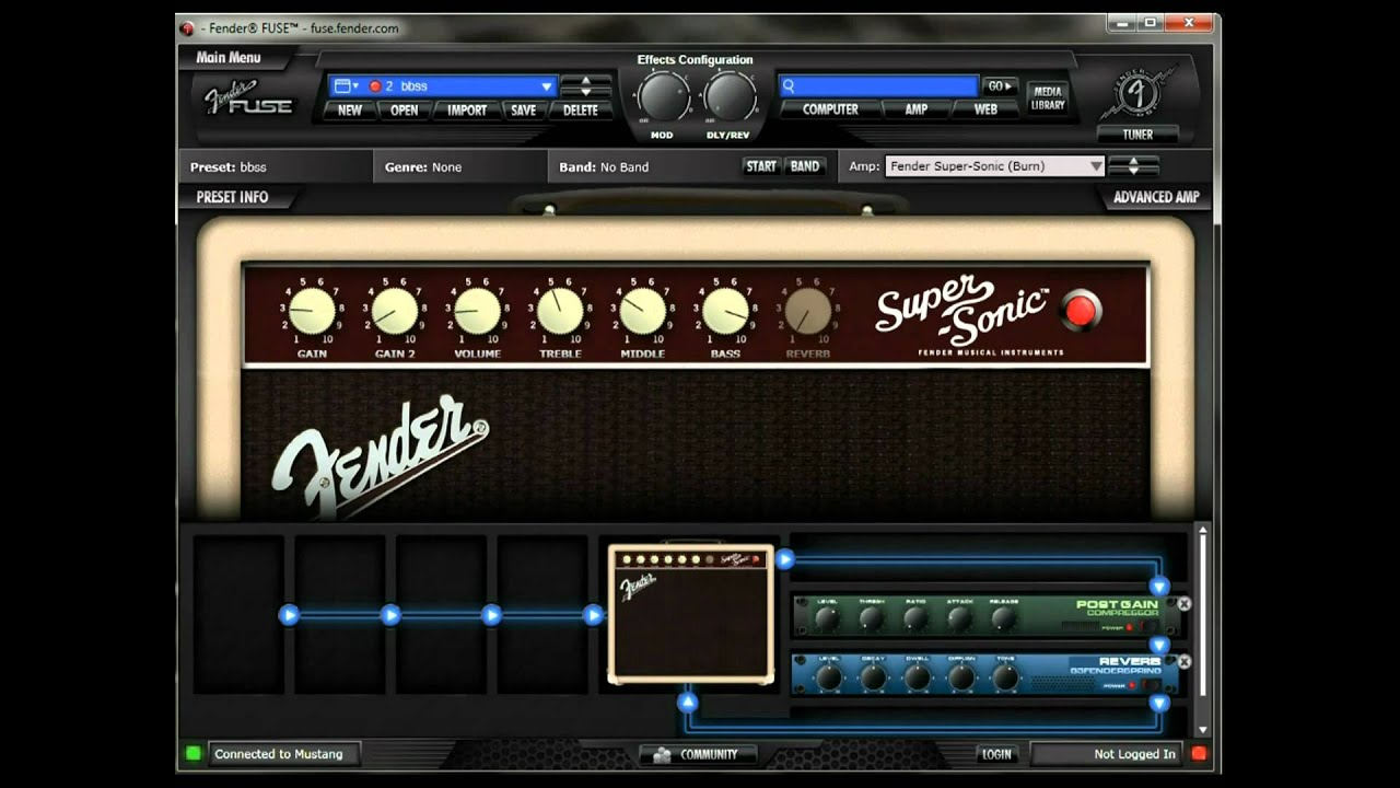 short movie of the fender fuse software for mustang amps - youtube