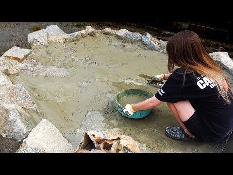 池作り。彼女�一緒�4メートル�巨大池を作る。