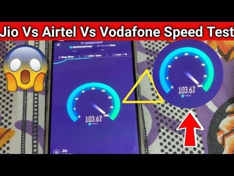103 Mbps Speed ? | Jio Vs Airtel Vs Vodafone Live Speed Test
