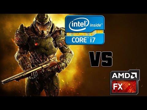 Doom/ Amd R9 Fury X/ FX9590 4.9Ghz Vs I7 6700K 4.7Ghz