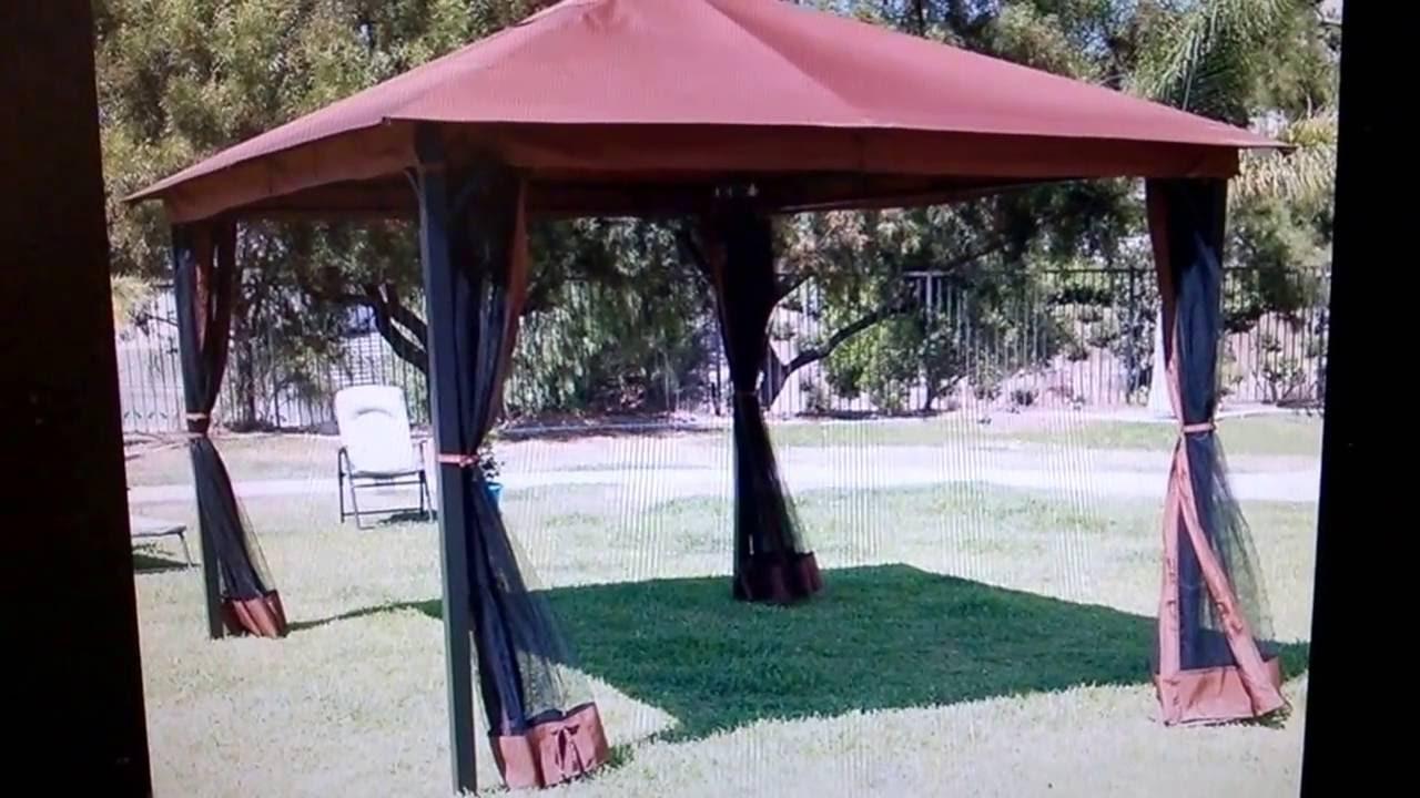 ebay - 10u0027 x 12u0027 Regency Patio Canopy Gazebo Mosquito Net Netting Aluminum Steel & ebay - 10u0027 x 12u0027 Regency Patio Canopy Gazebo Mosquito Net Netting ...