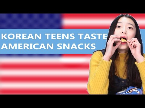 Korean Teens Taste American Snacks (ENG SUB) [Korean Bros]