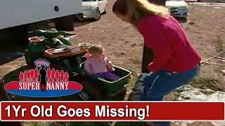 Mom Doesn't Know 1Yr Old Is Missing Outside | Supernanny