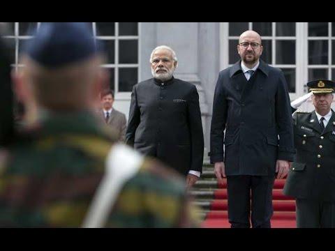 PM Narendra Modi Pays Tribute At Brussels' Terror Site