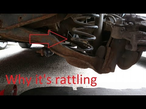 Mazda 3 Broken rear spring causes rattling | How to fix it