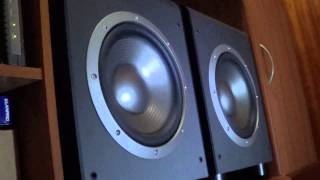 Demo DUAL JBL ES150p Bass Test + 2 PAIR OF FLAUNCE SX6 + SHERWOOD RX4503