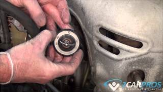 Thermostat & Radiator Hoses Replacement Toyota Camry 2002-2006(In this video we show how to replace the thermostat and radiator hoses on a Toyota Camry from years 2002-2006. If you have any further interest please visit ..., 2015-06-08T23:00:08.000Z)
