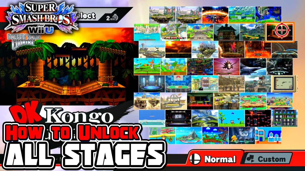 How To Unlock All Stages in Super Smash Bros  for Wii U! - YouTube