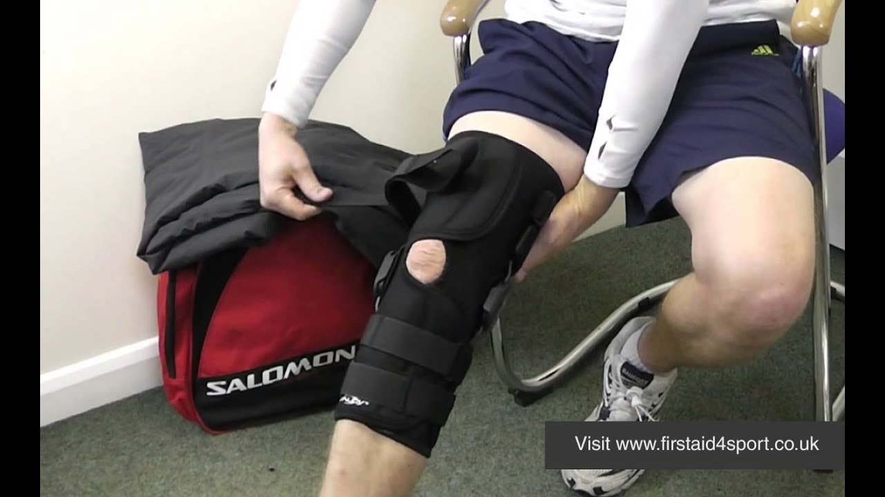 5b3c1ff5f8 Donjoy Playmaker Wraparound Knee Brace - YouTube