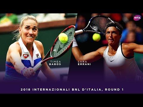 Timea Babos vs. Sara Errani | 2018 Internazionali BNL d'Italia First Round | WTA Highlights