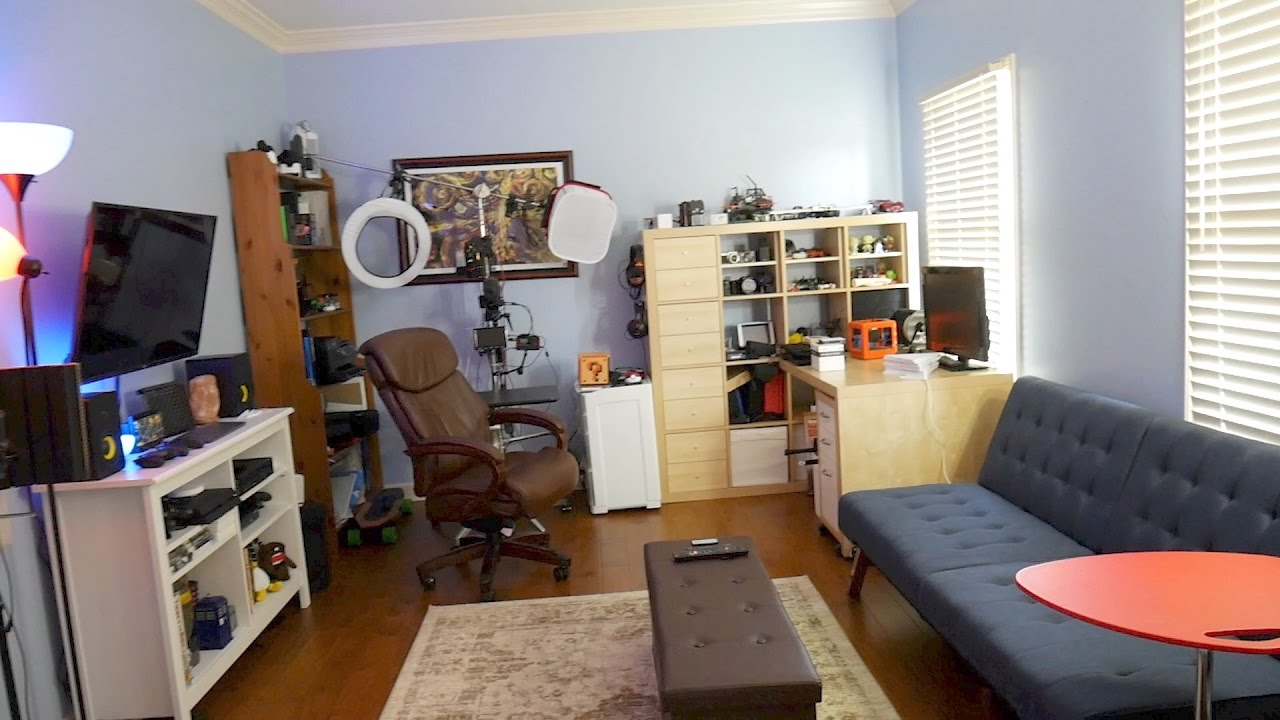 Home Office Setup Tour 2017! (Gaming, Filming, Treadmill Desk)