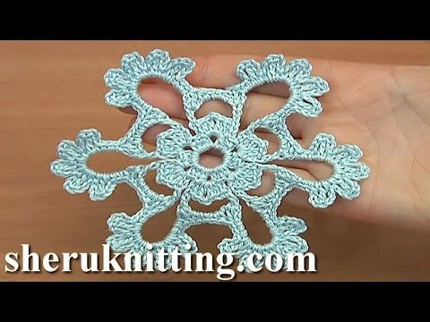 Crocheted Snowflakes Tutorial 31 Free Video Pattern Youtube