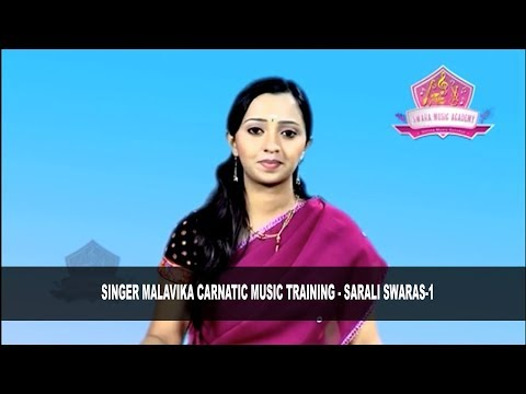 Singer Malavika Carnatic Music Training - Sarali Swaras 1 by: #SwaraMusicAcademy