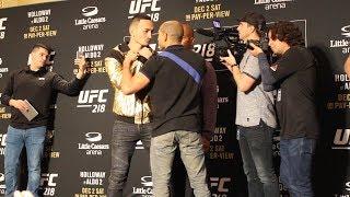 UFC 218 Media Day: Max Holloway vs. Jose Aldo Staredown