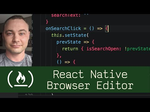 React Native Browser Editor  (P8D1) - Live Coding with Jesse
