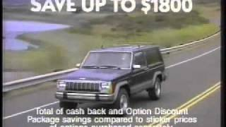 Anuncio Jeep - Eagle California, 1988