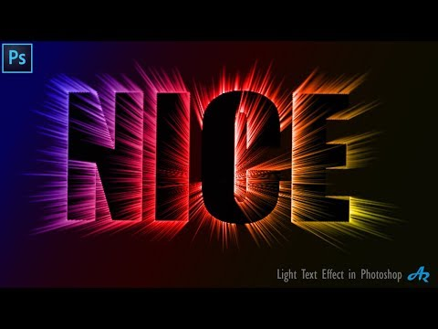 Photoshop Tutorial: Realistic Light Text Effect In Photoshop| Colorful Light Brush Text Effect