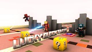 Minecraft : CAPTAİN AMERİKA VS IRONMAN VS SPİDER-MAN - Lucky Block Yarışı & PvP