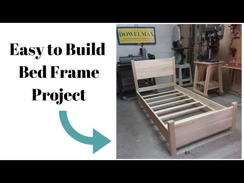 Easy to Build Single Bed Frame by Dowelmax | Back to Basics Woodworking Series