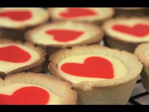 Love Heart Cheese Tarts