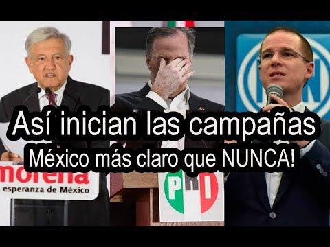 ASI iNICIAN SUS CAMPAñAS  para Presidente de México, AMLO tiene sorpresa!