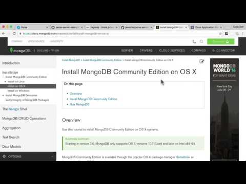 EP5 - Parse Server: How to run parse server locally