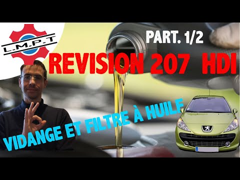 r vision peugeot 207 1 6 hdi vidange filtres 1 re partie youtube. Black Bedroom Furniture Sets. Home Design Ideas