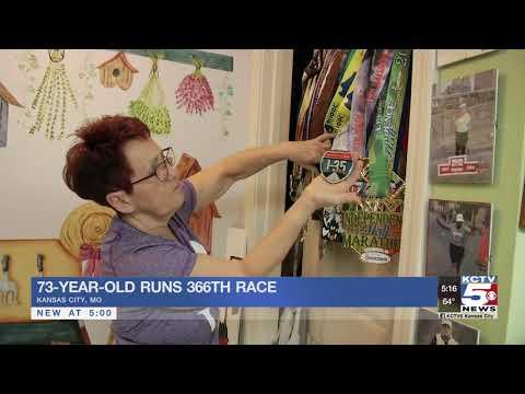 Woman prepares to finish 366th marathon