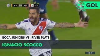 Ignacio Scocco (0-2) Boca Juniors vs River Plate | Fecha 6 - Superliga Argentina 2018/2019