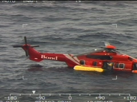 Dramatic North Sea rescue after helicopter ditches
