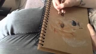 Bella Golden Retriever Speed Drawing - Pawtrait Emporium