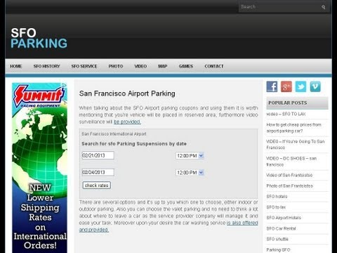 sfo Airport Parking Reservations   sfoparking org