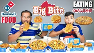 DOMINO'S FOOD BIG BITE EATING CHALLENGE | Burger & Pizza Eating Competition | Food Challenge