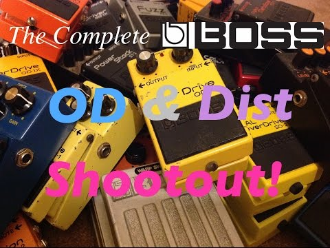 The Complete Boss Drive /Distortion Shootout!