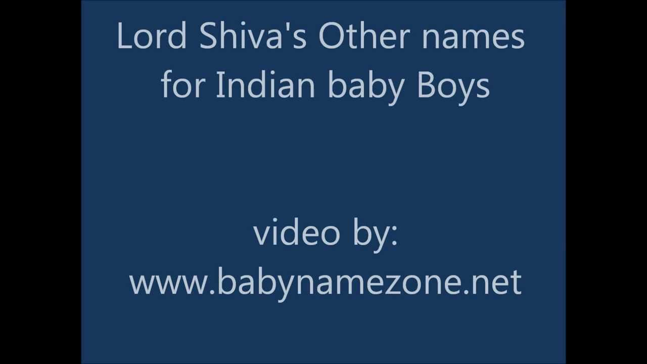 900f50259708 Lord Shiva Names For Indian Baby Boys - YouTube