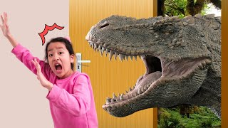 마법의문에서 공룡이 나타났다! 공룡과 놀기 Magic door Pretend play Dinosaur Kids Adventure 아엘튜브 Aeltube