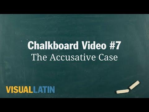 The Accusative Case | Visual Latin Chalkboard #7