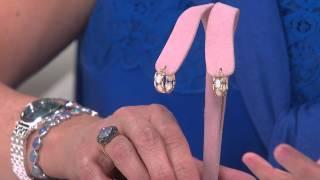 """Australian Opal 3/4"""" Hoop Earrings 14K Gold with Jill Bauer"""