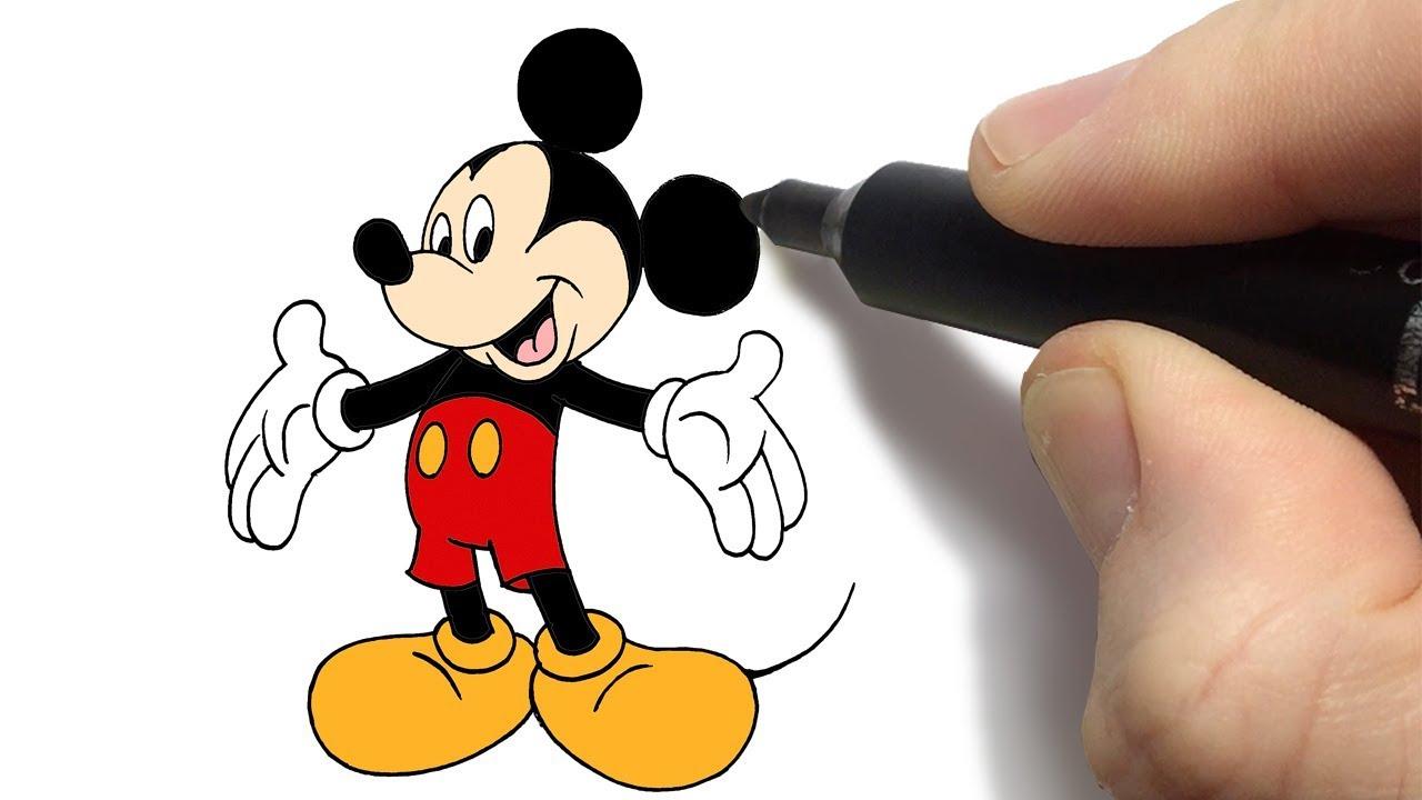 Como Desenhar O Mickey Mouse Da Disney How To Draw Mickey Mouse