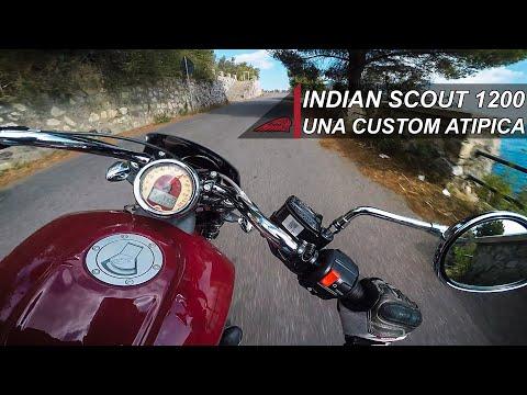 UNA CUSTOM ATIPICA ! Indian Scout 1200 2019 Test ride