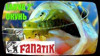 Весенняя ловля окуня на речке микроджигом. Съедобный силикон Fanatik Larva (приманки Юрия Петраша)