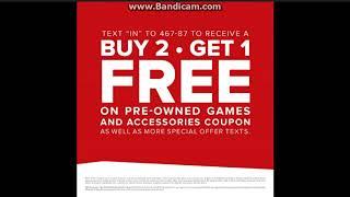 Gamestop Promo Deal Buy 2 Get 1 Free Coupon