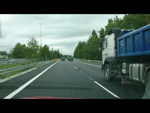 Helsinki to Järvenpää early evening rush hour drive
