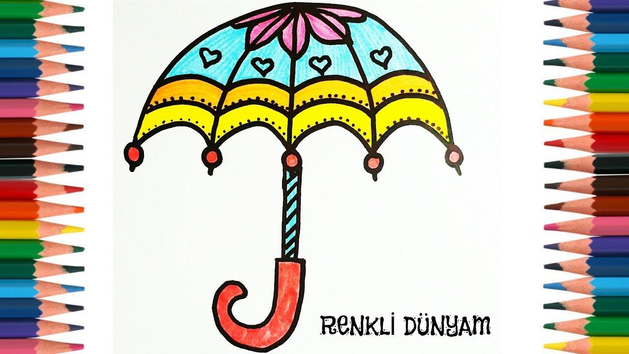 şemsiye Nasıl çizilir şemsiye çizimi How To Draw A Umbrella