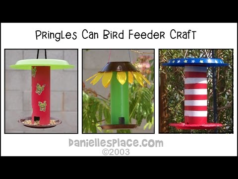 Pringle's Can Bird Feeder Craft